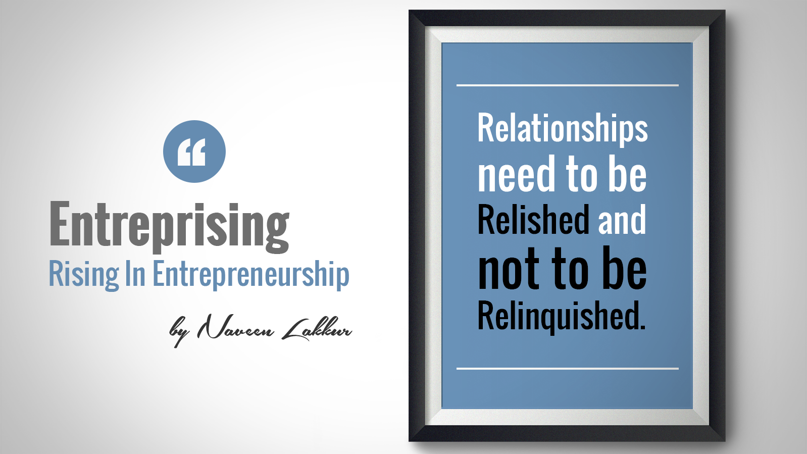 RELISH YOUR RELATIONSHIPS