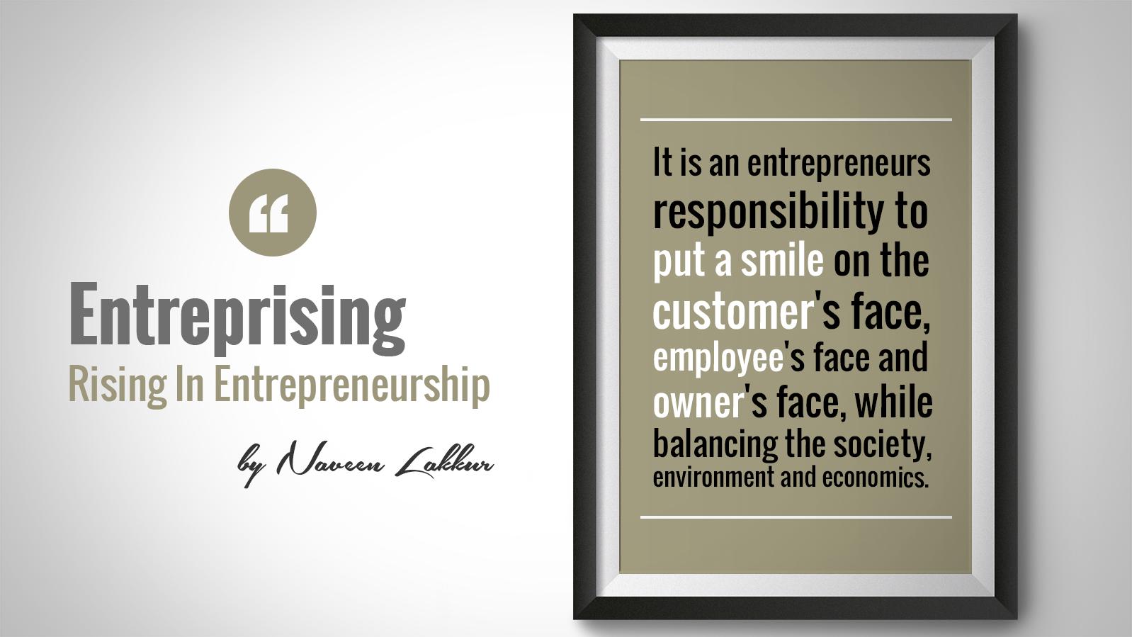 Responsibilities of an Entrepreneur
