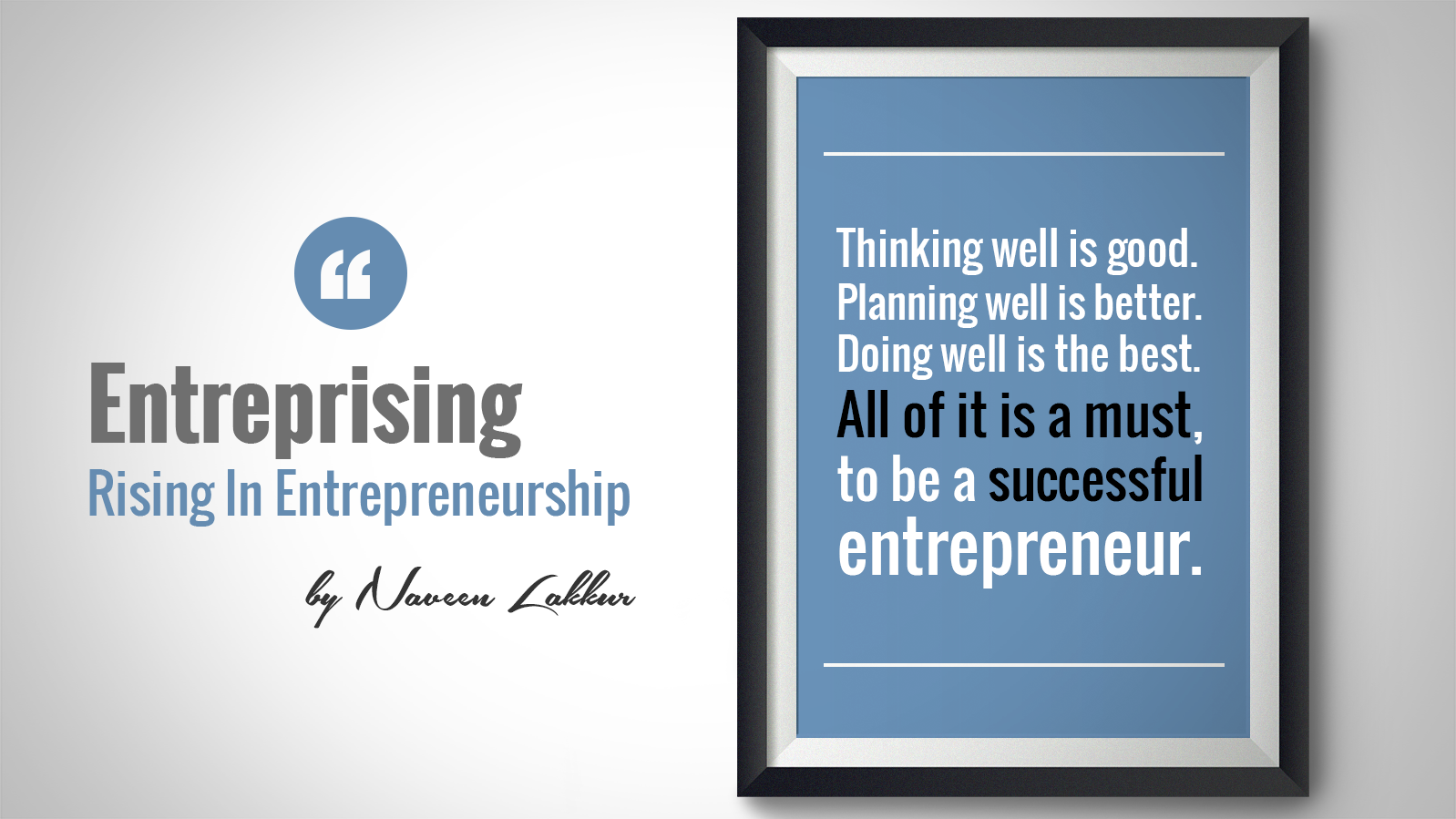 Marks of a Successful Entrepreneur