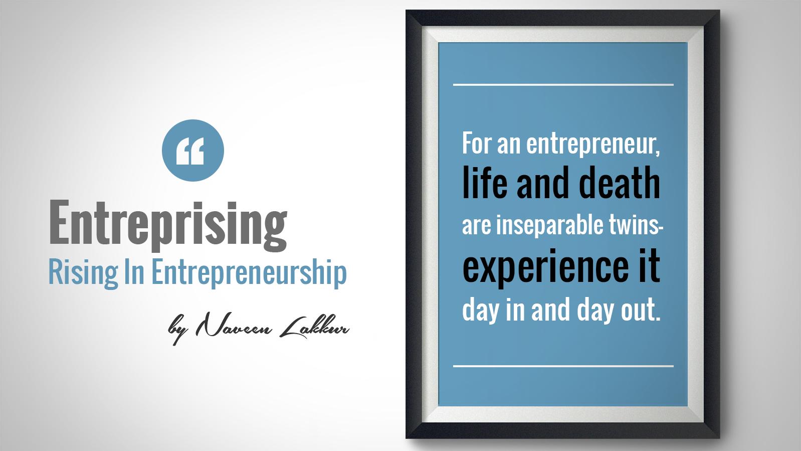 Entrepreneurship is made of failures