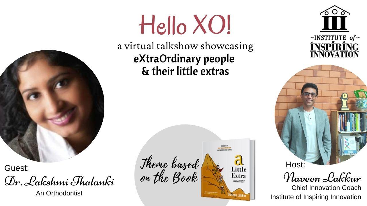 Dr. Lakshmi Hello XO Banner